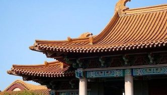 The elegant and clean lines of the Confucius Temple in Taichung