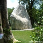Chung Tai Chan is surrounded by gardens adorned with boulders, statues and rare trees.