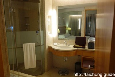 Bathroom. Beside the wide shower room, there is also a full size bathtub