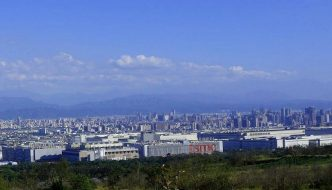 Taichung from Dadushan. The Science Park in the foreground.