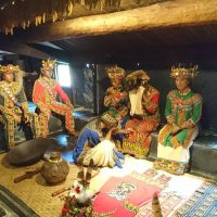 Taiwanese Aborigines House reconstructed in Formosa Aboriginal Village