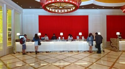 The reception of The Lin Hotel, Taichung