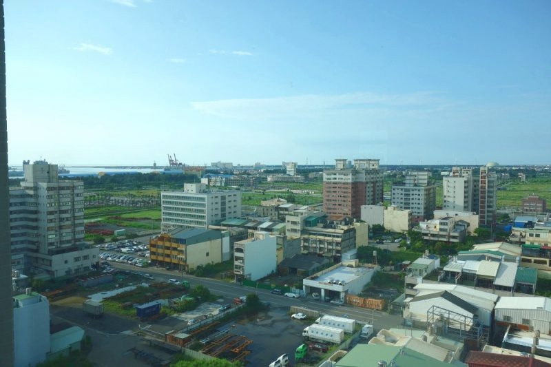 View to Taichung Port from the hotel room.